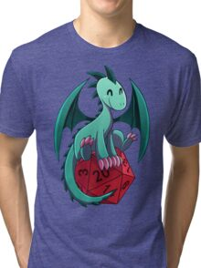 D&D - Dragons and Dice! (Green Dragon) Tri-blend T-Shirt