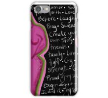 Survivor mind breast cancer iPhone Case/Skin