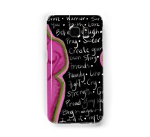Survivor mind breast cancer Samsung Galaxy Case/Skin