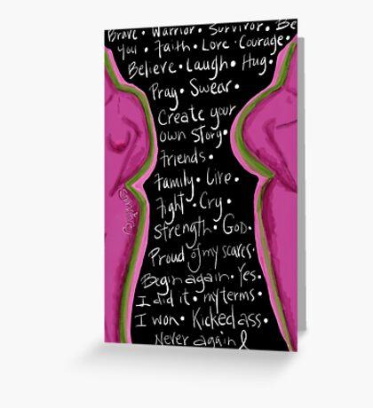 Survivor mind breast cancer Greeting Card