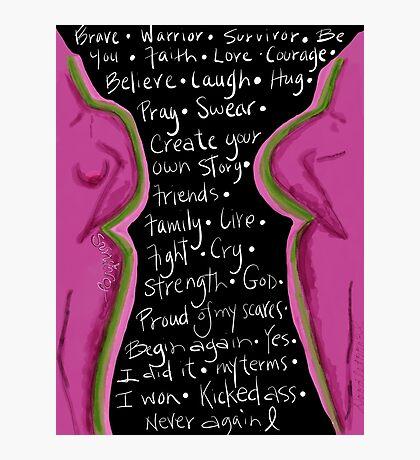 Survivor mind breast cancer Photographic Print