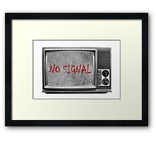 Сoncrete TV (no signal) Framed Print