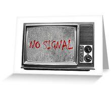 Сoncrete TV (no signal) Greeting Card