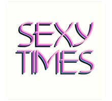 Funny Trash Neon Text 80s 70s Miami Pink Glowing Sexy Party Art Print