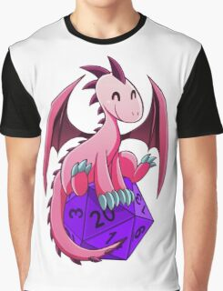 D&D - Dragons and Dice! (Pink Dragon) Graphic T-Shirt