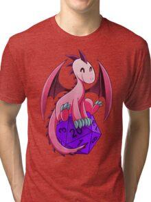 D&D - Dragons and Dice! (Pink Dragon) Tri-blend T-Shirt