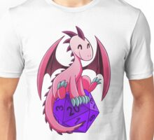 D&D - Dragons and Dice! (Pink Dragon) Unisex T-Shirt