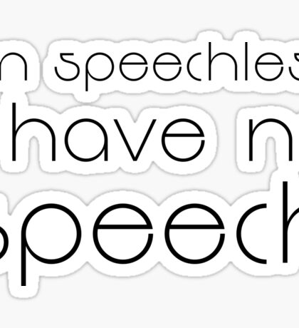 Seinfeld Quote Funny Speechless TV Show Comedy Sticker