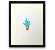 Middle Finger Tetris Framed Print