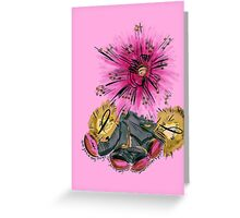 Warrior for breast cancer Greeting Card