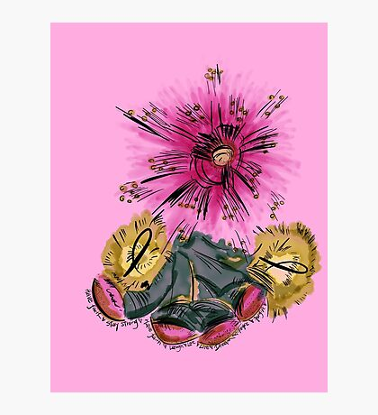 Warrior for breast cancer Photographic Print
