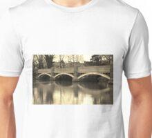 The old Weybridge bridge over the Wey Unisex T-Shirt