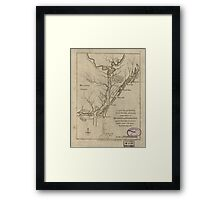 American Revolutionary War Era Maps 1750-1786 360 Cape Fear River with the counties adjacent and the towns of Brunswick and Wilmington against which Lord Framed Print