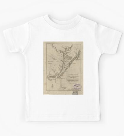 American Revolutionary War Era Maps 1750-1786 360 Cape Fear River with the counties adjacent and the towns of Brunswick and Wilmington against which Lord Kids Tee