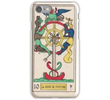 X. La Roue de Fortune (The Wheel of Fortune) iPhone Case/Skin