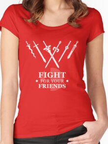 Fight for your Friends Women's Fitted Scoop T-Shirt