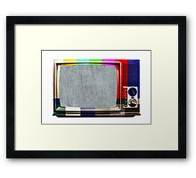 No signal TV Framed Print