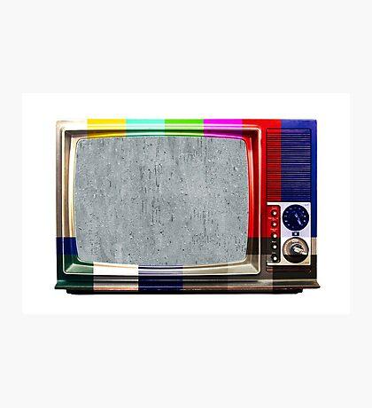 No signal TV Photographic Print