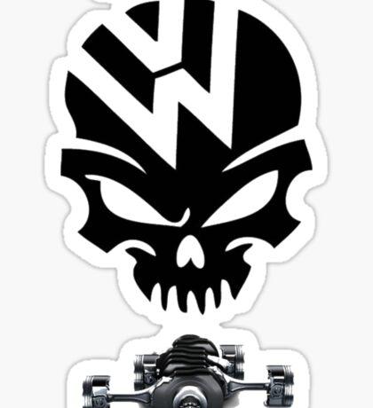 volkswagen logo air cooled Sticker