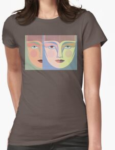 FACES #7 Womens Fitted T-Shirt