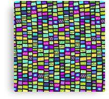 happy bright colorfull mosaic Canvas Print
