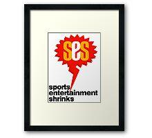 SES Podcast - Sports Entertainment Shrinks Framed Print