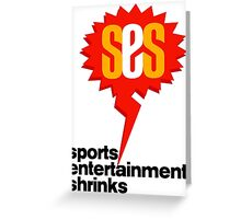 SES Podcast - Sports Entertainment Shrinks Greeting Card