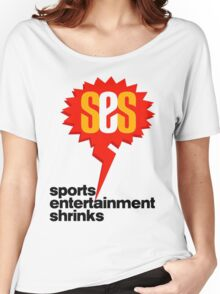 SES Podcast - Sports Entertainment Shrinks Women's Relaxed Fit T-Shirt