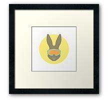 Rabbit with ski mask. Framed Print
