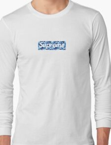 Supreme X Bape camo BLUE Long Sleeve T-Shirt
