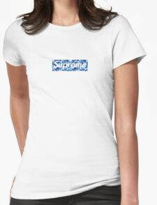 Supreme X Bape camo BLUE Womens Fitted T-Shirt