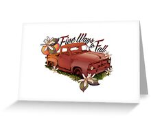 Five Ways To Fall Merchandise Greeting Card