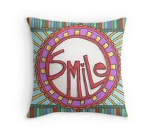 Smile! It's the universal language.  Throw Pillow