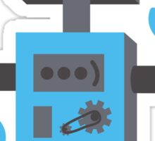 Blue Robot Dude Sticker