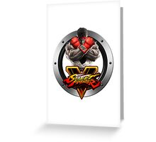 Street Fighter V : Ryu Greeting Card