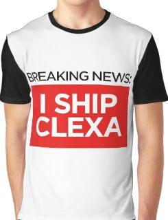 BREAKING NEWS: I SHIP CLEXA Graphic T-Shirt
