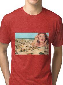 She's such a beach  Tri-blend T-Shirt