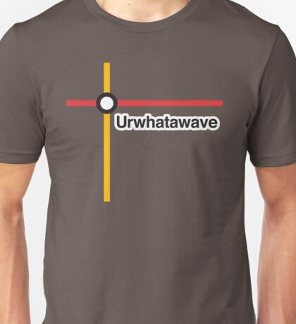 Urwhatawave - Literally Translated Metro Map Unisex T-Shirt