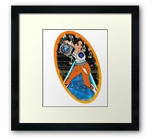 Portal - Chell & Wheatley Framed Print
