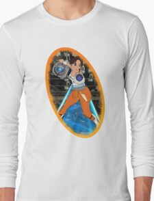Portal - Chell & Wheatley Long Sleeve T-Shirt