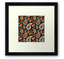 Brown Paisley Framed Print