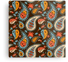Brown Paisley Metal Print