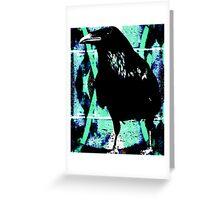 Raven waiting Greeting Card