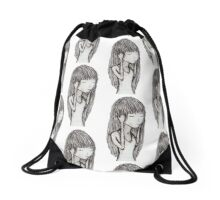 Sad Girl Drawstring Bag