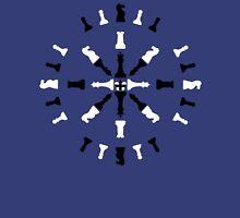 Chess Piece Design - Black and White Unisex T-Shirt