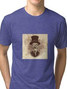 Steampunk Mustache Tri-blend T-Shirt