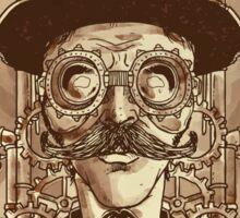 Steampunk Mustache Sticker