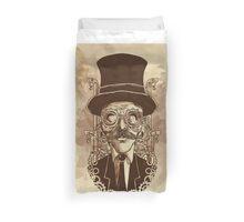 Steampunk Mustache Duvet Cover