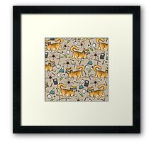 STEM Cats Framed Print