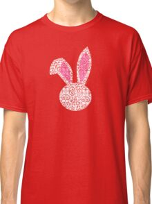 Pretty White Lace Bunny Classic T-Shirt
